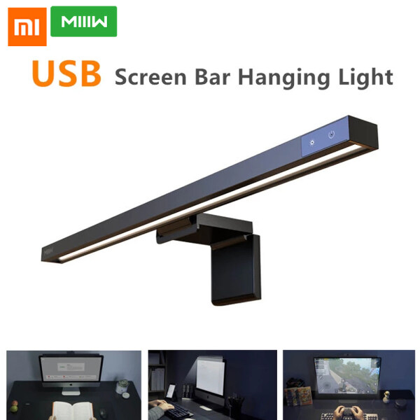 Xiaomi Ecological Chain MIIIW Screenbar LED Desk Lamp Adjuable Light Table Lamp Computer PC Monitor Laptop Screen Bar Hanging Light Stepless Dimming For Office Study   Reading Light