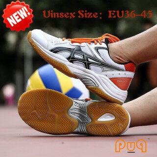 Giày bóng chuyền chuyên nghiệp puq giày thể thao có đế EU36-45 giày tập luyện bóng chuyền Giày tennis Giày cầu lông giày bóng có gân chống trượt thumbnail