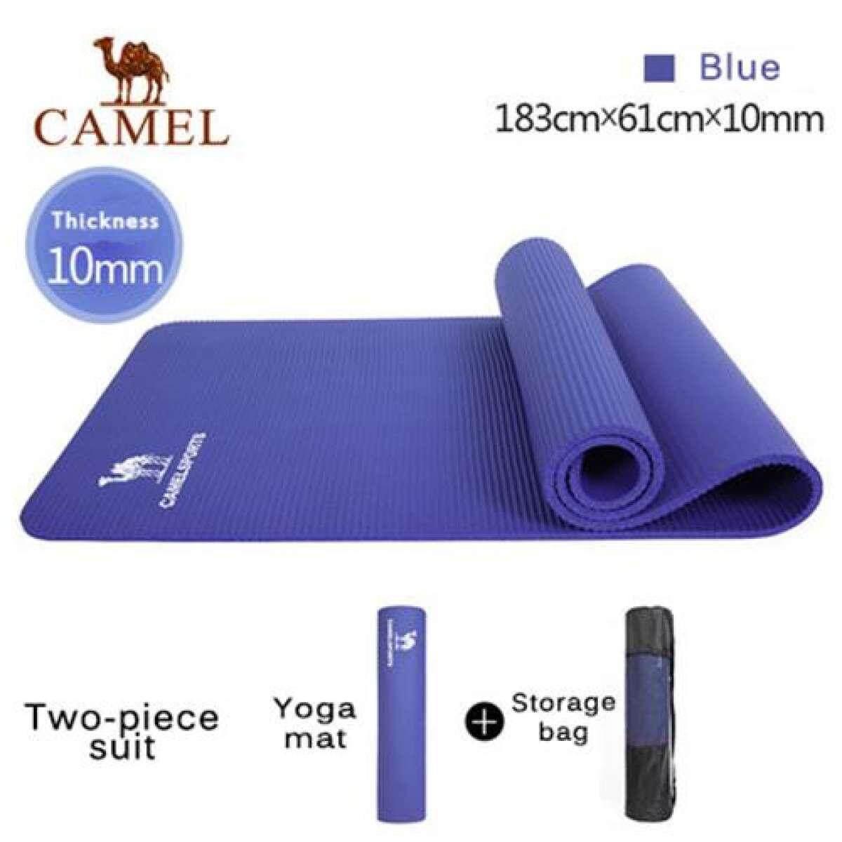 Unta Olahraga Luar Ruangan Berkualitas Tinggi Tikar Yoga Penebalan Non-Slip Fitnessfitness Pilates 183*61*1 Cm Mat Pemula -Intl By Camel International.