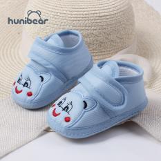 Giày Bệt Cho Bé Sơ Sinh Honibear, Chất Liệu Cotton Mềm, Chống Trơn Trượt, Đế Bệt Cho Bé Từ 3 Đến 12 Tháng Tuổi
