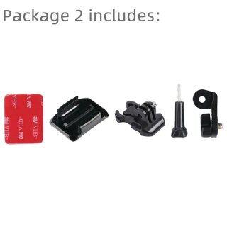 Gắn Mũ Bảo Hiểm Xe Máy Cánh Tay Dính Cong, Dành Cho Xiaomi Yi 4K Gopro Hero 9 8 7 6 5 SJCAM Phụ Kiện Camera Hành Trình Sj4000 Eken H9 thumbnail