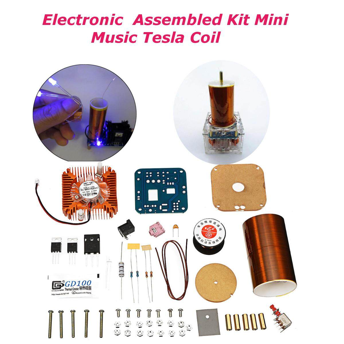 24 V Diy Elektronik Kit Rakitan Mini Bohlam Cahaya Led Speaker Plasma Tesla Arc Generator By Channy.