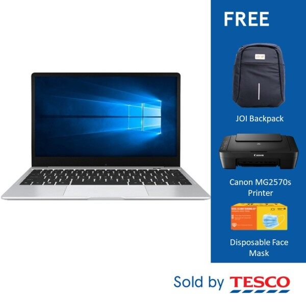 JOI Book SK3000 12.5 FHD Laptop (Qualcomm SDM850/4GB/128GB/W10P) + Free Backpack + Canon MG2570s Printer + Disposable Face Mask (*Promo valid till 14th Feb only) Malaysia