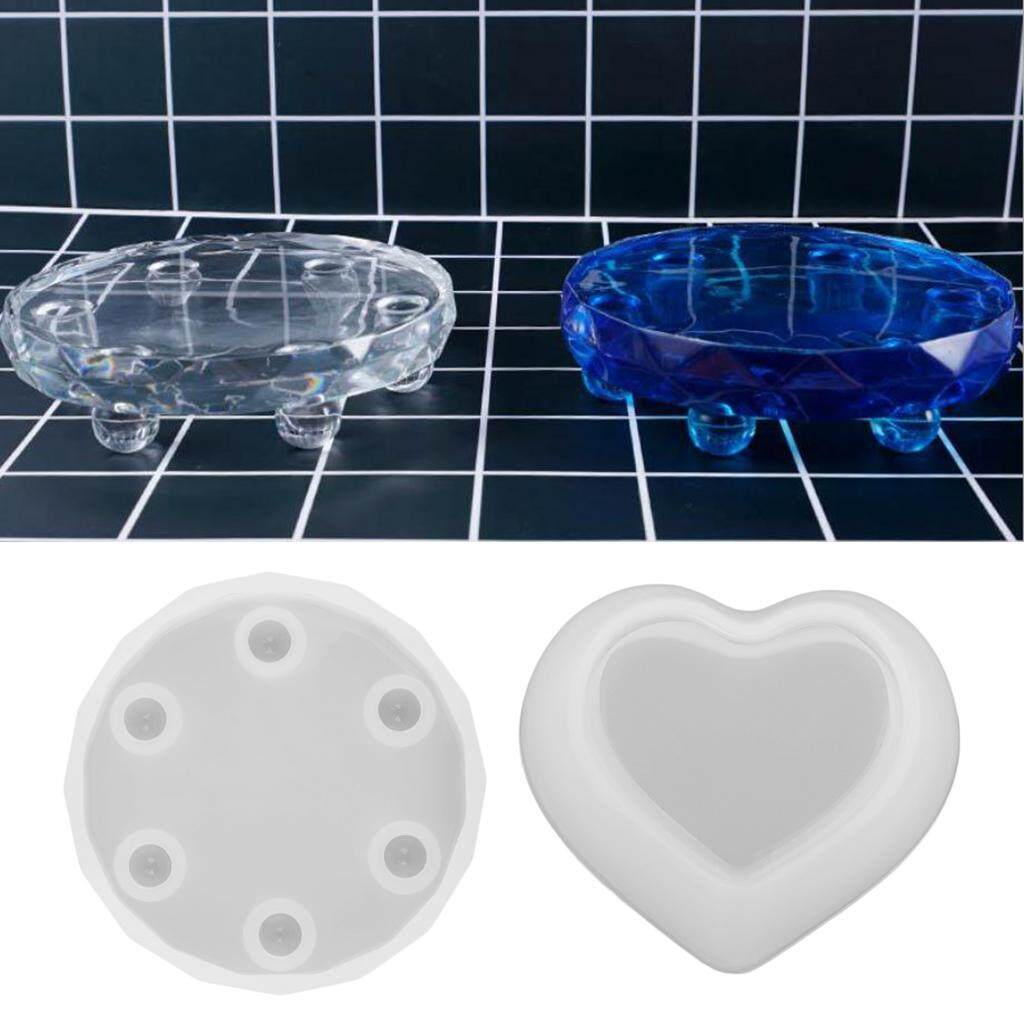 Bolehdeals Silicone Resin Jewelry Making Mold Heart Box Making Diy Display Trays Crafts By Bolehdeals.
