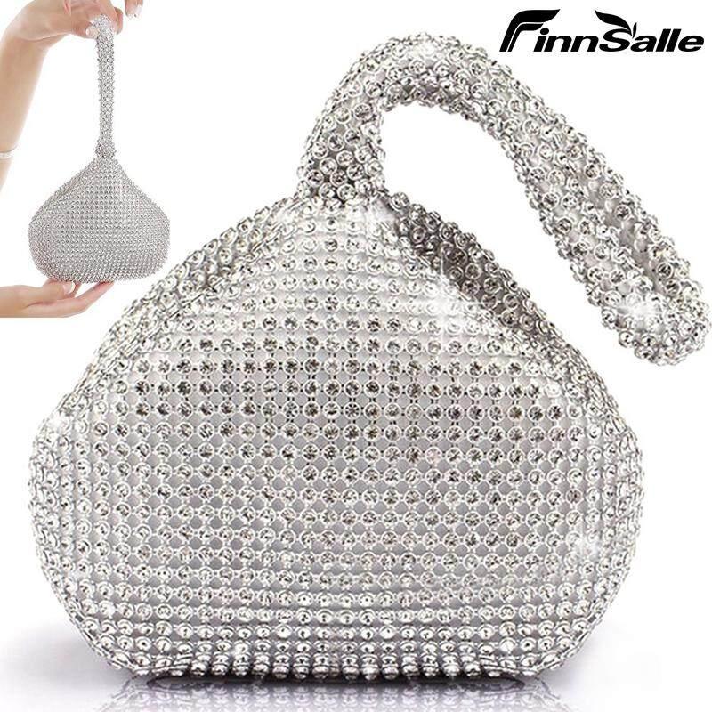 Women Lady Evening Clutch Bag Triangle Rhinestones Party Prom Wedding Purse #Buy