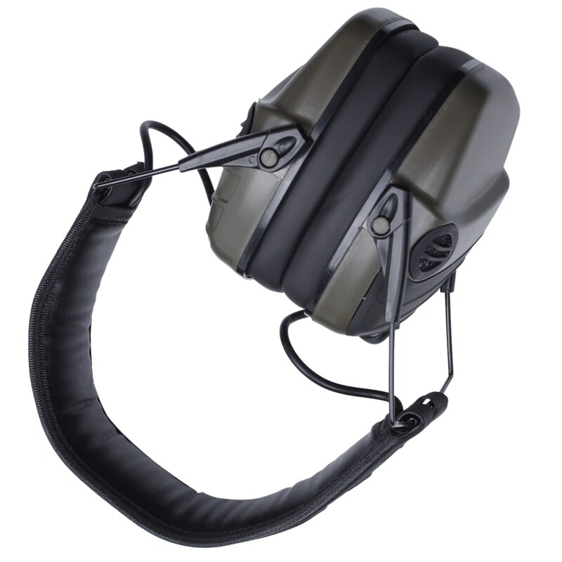 Electronic Earmuff NRR 25DB Hunting Electronics Protection Hunting Ear Muffs (Olive Green)