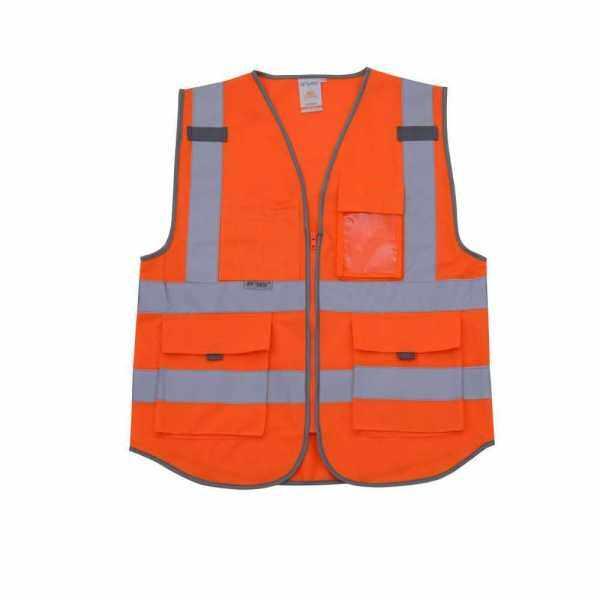 SFVest High Visibility Reflective Safety Vest (Orange)