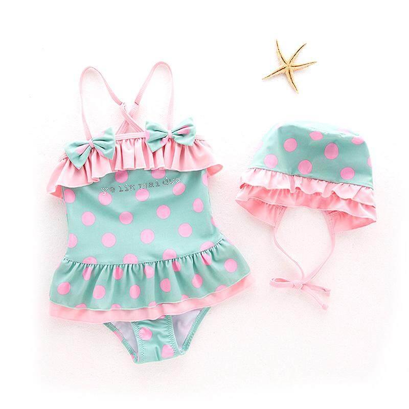 73c934a87122e Comebuy88 Baby Girls Swimwear Swimsuit Bowknot Top Hat Set Bathing SPA Beach  Clothing