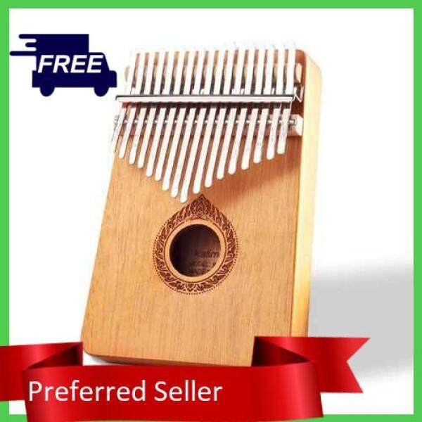 TOP SELLER Classic 17-Key Wooden Acoustic Thumb Piano Kalimba Mbira Exquisite Workmanship for Beginners Students (Orange) Malaysia