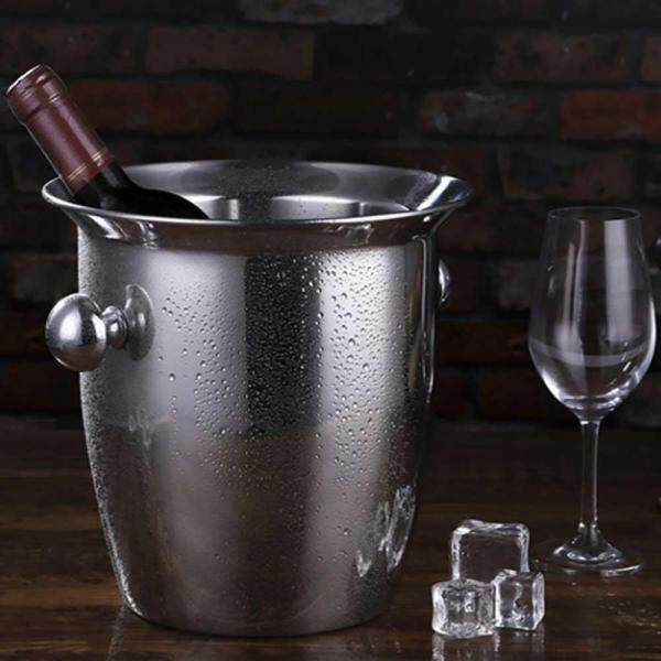 Silver Stainless Steel Ice Punch Bucket  Cooler Party