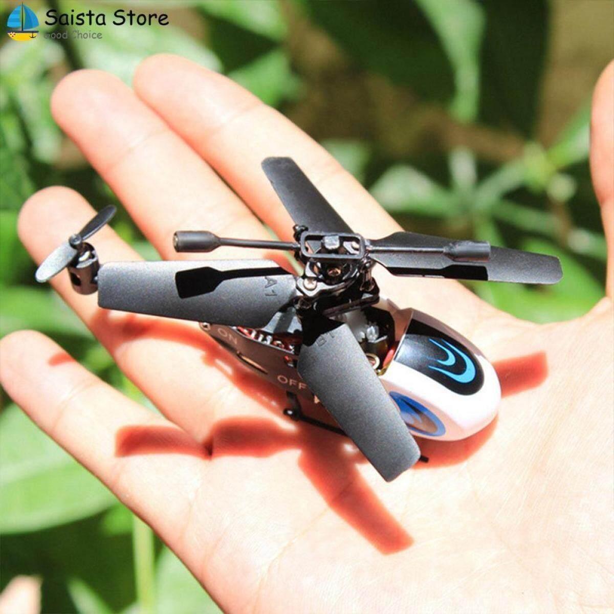 Saista Drone ของเล่นโมเดลเฮลิคอปเตอร์ควบคุมรีโมตพลาสติก Dc 5 V 2 ช่องกระพริบ By Uugrojuaw.