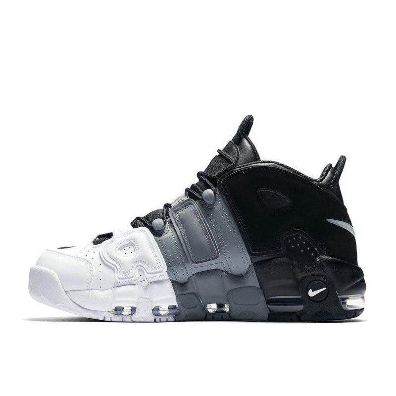 brand new 05360 266c1 nike Air More Uptempo Tri-Color Men's Basketball Shoes Sports Sneakers Shoes ,Waterproof