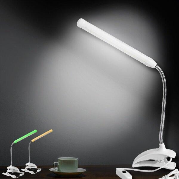 Bảng giá Mới Có Thể Sạc Lại Đầu Giường USB Có Thể Điều Chỉnh Được Đèn Bàn Kẹp Kẹp Đèn LED Đọc Sách Bàn Đọc