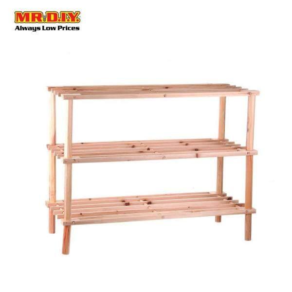 MR DIY 3 Tier Wooden Shoes Rack (63cm x 55cm)