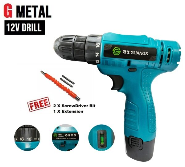 New Year Promotion 12V LITHIUM DRILL CORDLESS DRILL MULTI-FUNCTION ELECTRIC SCREWDRIVER HAND DRILL W 1 BATTERY