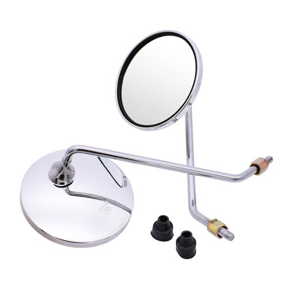 Big Vision Phía Sau Xe Máy Thông Dụng Xem Gương Xe Đạp Điện 4.3 Inch Chrome Gương Tròn Moto Gương Bên Miễn Phí Vận Chuyển