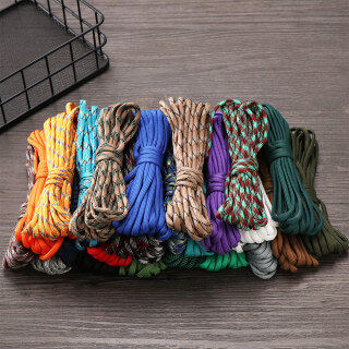MEMGOUO 1PC High quality Hiking Camping Equipment Diameter 4mm 5 meters length Parachute Cord Paracord Cord Rope Lanyard Tent Ropes Survival kit thumbnail