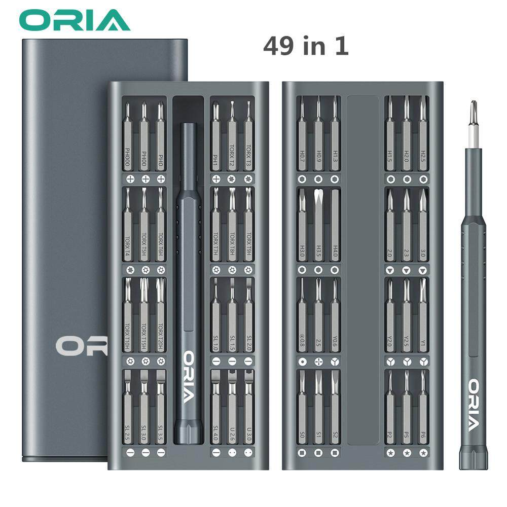 ORIA Precision Screw Driver Set 49 in 1 Long Screwdriver Bits Magnetic Driver Kit with 48 Bits S2 Steel Material Repair Tool Kit for Smartphone/Tablet/PC