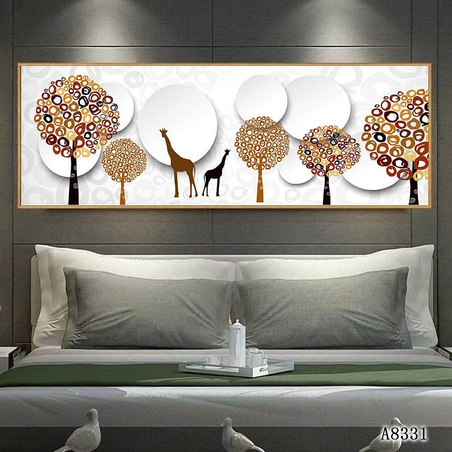 Canvas Painting Wall Art Modern Giclee European Elk Forest Landscape Print Picture Home Decorative Painting 30*120cm/40x160cm
