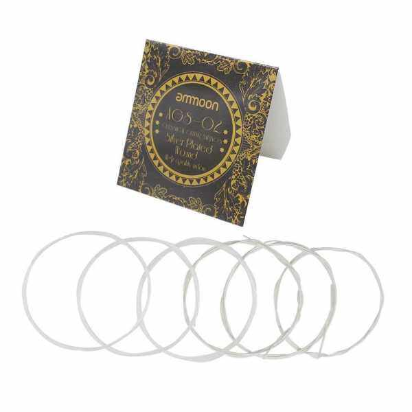 ammoon AGS-02 Classical Guitar Strings Transparent Nylon Silver-Plated Copper Normal Tension Malaysia