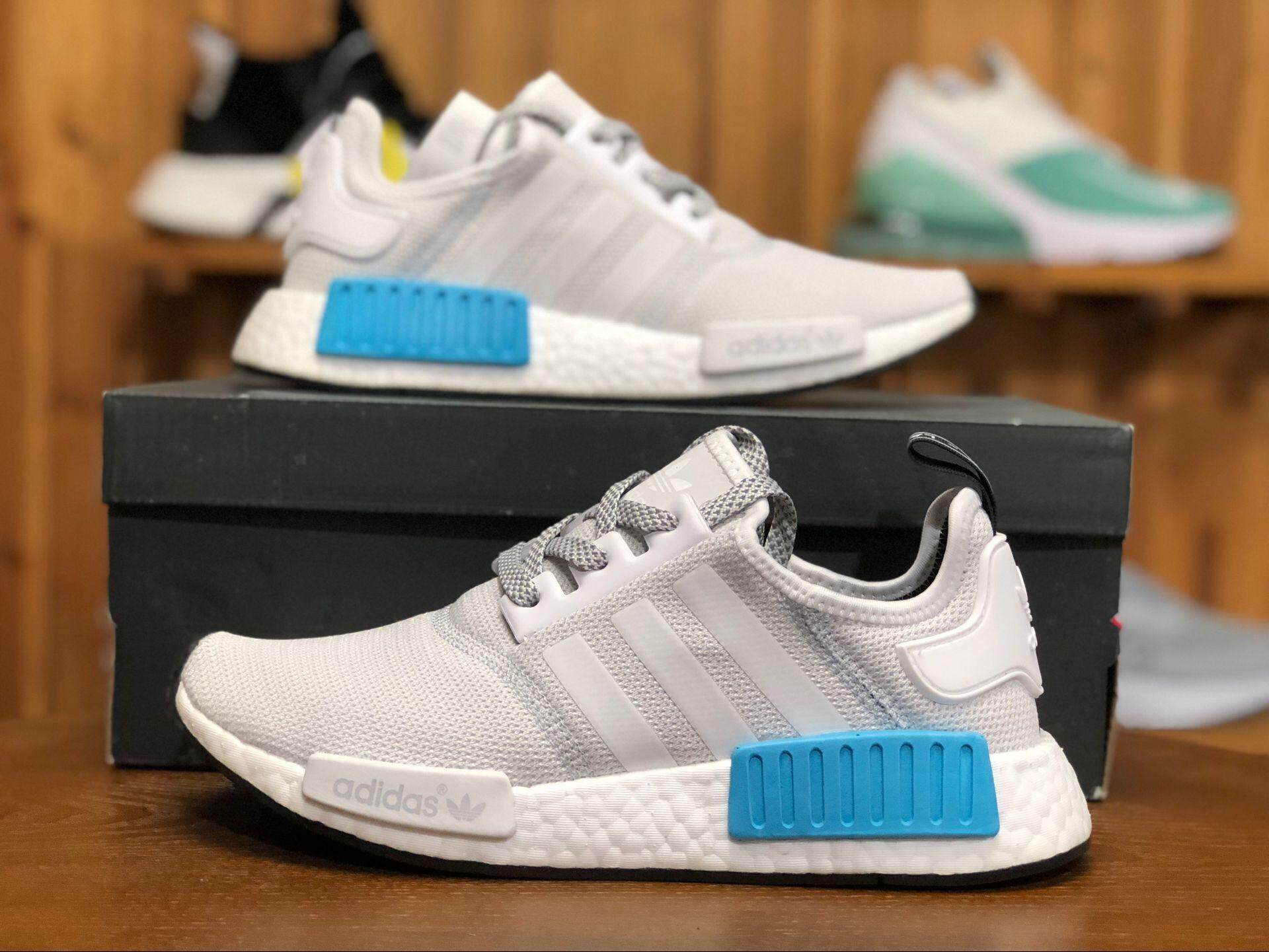 promo code 6c6a1 8f573 Sale ADIDA 2018 NMD  R1 Runner Nomad White Blue S31511 Women and Men  Sneaker 36-