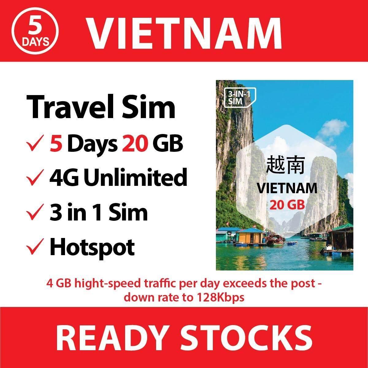 【Vietnam】【5days】Travel Sim Card Vietnamobile