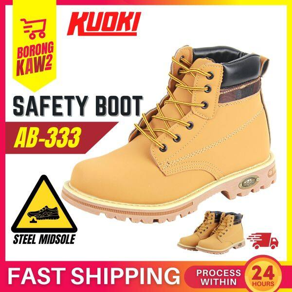 KUOKI Original Safety Shoes Army Tactical Outdoor Durable Boots Steel Toe Midsole Kasut Kerja Tahan Lasak ( AB- 333 )