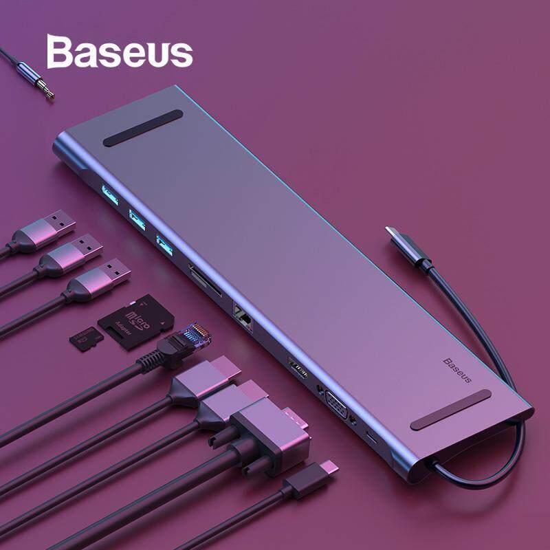 Baseus USB Type C HUB 3.0 USB HDMI RJ45 USB HUB for MacBook Pro Accessories USB Splitter Multi 11 ports Type C HUB USB-C HUB