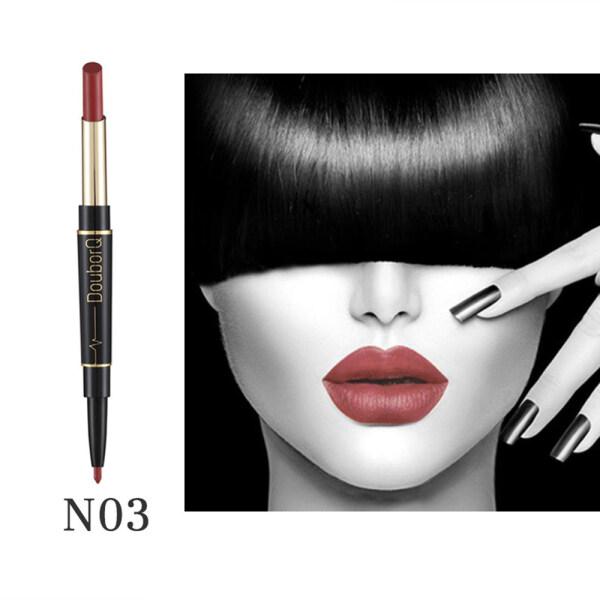 DouborQ 8 Màu Lâu Trôi Lip Liner Môi Lì Pencil Không Thấm Nước Dưỡng Ẩm Lipsticks Trang Điểm Đường Viền Mỹ Phẩm [Giao Hàng Nhanh] giá rẻ
