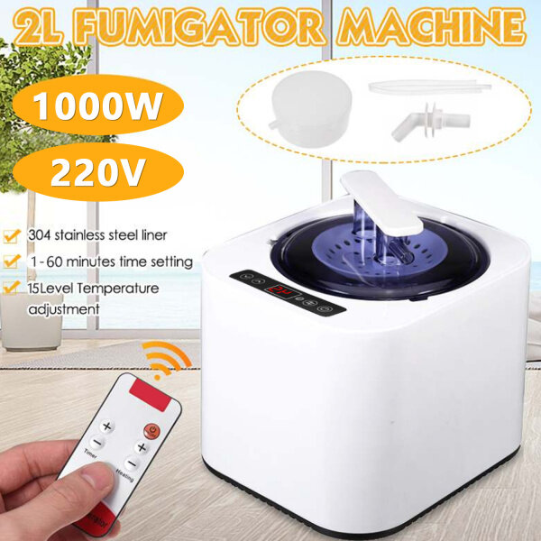 Buy 【Duha】2L Sauna Steamer Generator Steam SPA Fumigation Machine with Remote Control Medicine Box for Body Therapy Relieve Pressure EU Plug Singapore