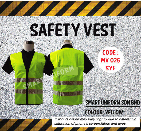 Safety Vest Netting Yellow 2 Reflective With Pipping White (SCN) Smart Uniform