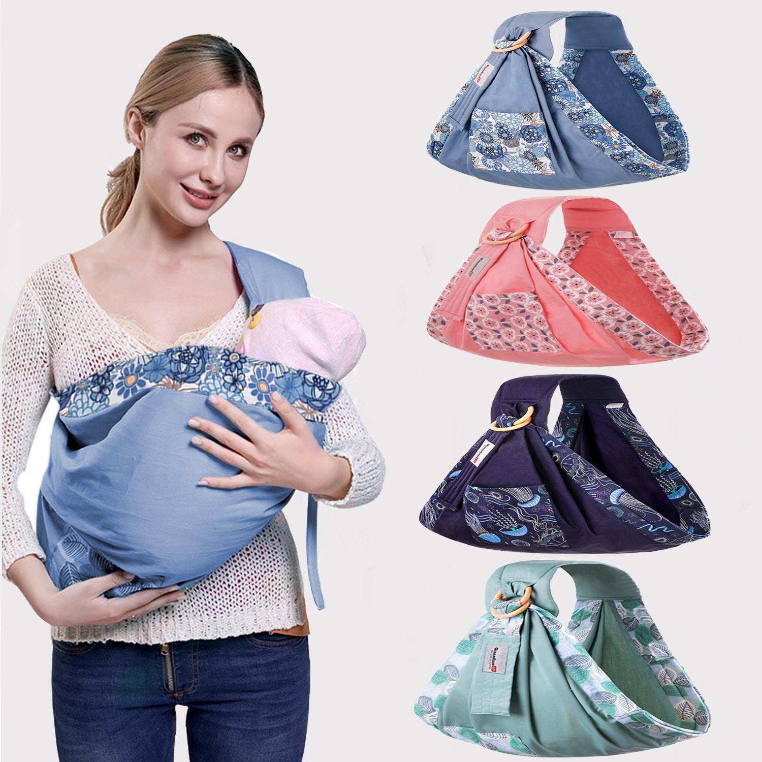 【Free Bag】Baby Wrap Carrier with Storage Bag for Toddlers Infants