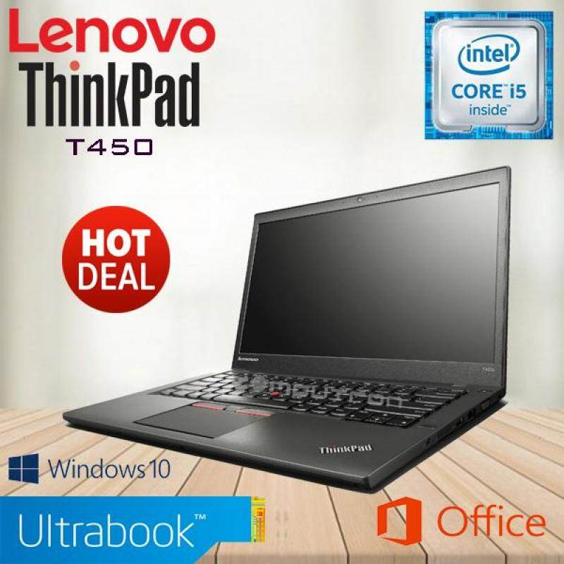 LENOVO THINKPAD T450 ULTRABOOK - CORE I5 / 8GB / 240GB SSD / FHD /  WINDOW 10 PRO GENUINE [2 YEAR WARRANTY] Malaysia