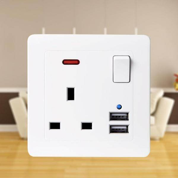 Watson Best Dual 3.1A USB Ports Wall Charger 13A UK Standard Electrical Plug Socket Outlet Panel USB Power Charge for Phone