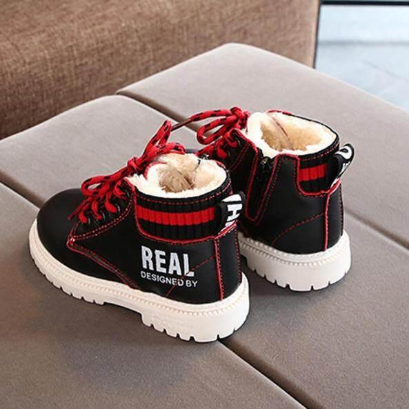Giày Trẻ Em, Giày Trẻ Em Đế Mềm Giày Em Bé Bốt Ngắn Cổ Chân Ấm Áp Mùa Đông Cho Trẻ Mới Biết Đi Trẻ Sơ Sinh Trẻ Em Bé Gái Bé Trai Giày Buộc Dây giá rẻ