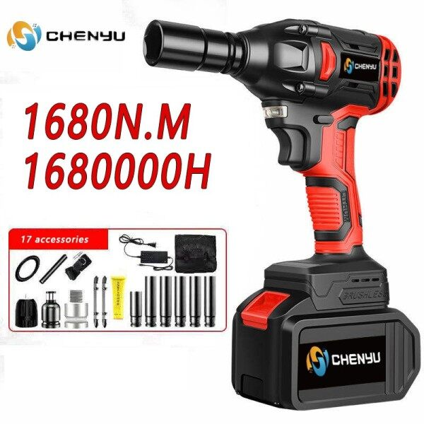 900N.M 1/2 Torque Impact Wrench Brushless Cordless Electric Wrench Drill Tool 0-4000 RPM 12.5MM