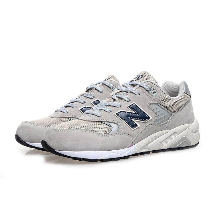 สอนใช้งาน  โคราช NEW BALANCE 580 NB580 สีเทาอ่อนผู้ชายและชุดกีฬาวิ่งสตรีรองเท้าระบายอากาศ