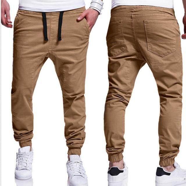 INCERUN 2562 Verano hombres ocio ลำลอง Harem pantalones Los Moda Hip-Hop pantalones jogging pantalones de algodón elástico puño