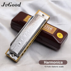JvGood Harmonica 10 Holes 20 Tone Chromatic Harmonica Mouth Organ Blues Harp Music Instrumentos Key C Musical Instruments