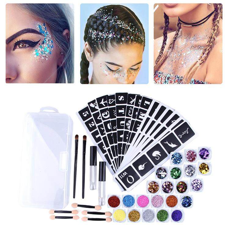 Body Art Glitter Kit Face Glitter Set With Glitter Sequins And 2 Sequin Glue And Others For Girls Teenagers Adults Gifts Lazada Ph