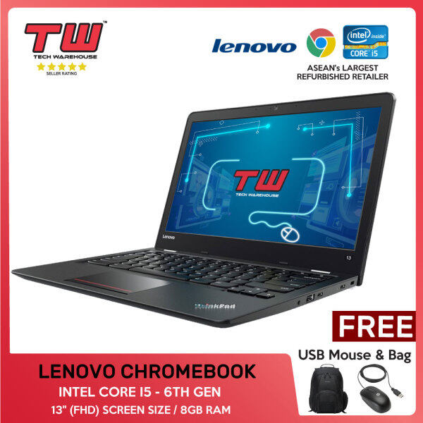 LENOVO CHROMEBOOK / INTEL CORE I5 - 6TH GEN/ LAPTOP / 13 (FHD) / 8GB RAM Malaysia