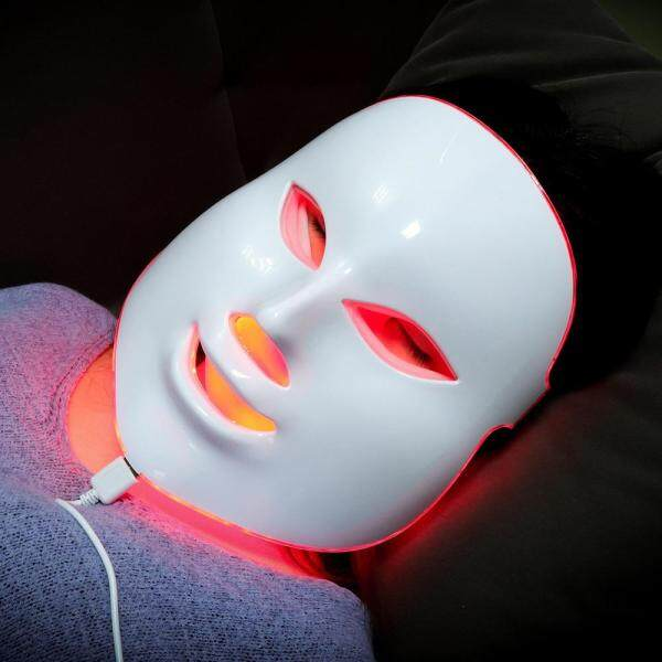 Buy 7 Colors Led Facial Mask Beauty Skin Care Rejuvenation Wrinkle Acne Removal Face Beauty Therapy Whitening Tighten Instrument Singapore