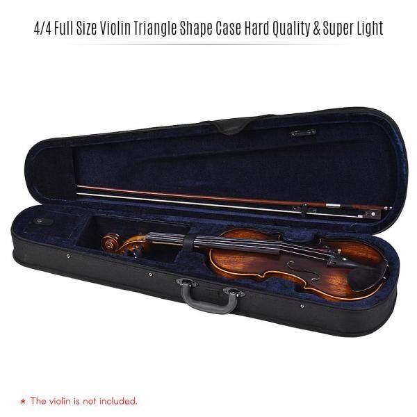 Chuyên Nghiệp 4/4 Kích Thước Đầy Đủ Violin Hình Tam Giác Hộp Cứng & Siêu Nhẹ Với Dây Đeo Vai Màu Xanh Đậm