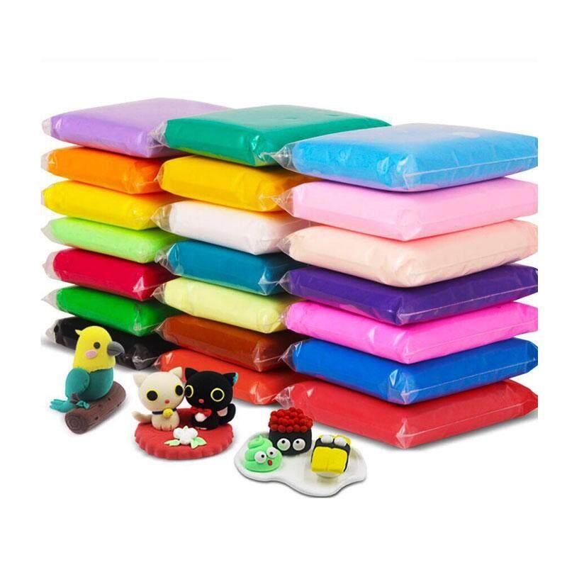 24 Colours Air Light Plasticine Clay Fimo Polymer Modeling Clay Soft DIY Creative Handgum Toys DIY Plasticine Clay Learning Toys