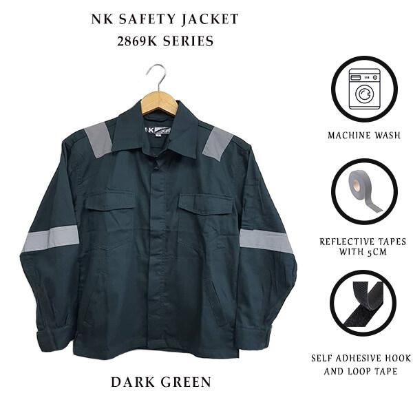 NK SAFETY JACKET 2869K - DARK GREEN