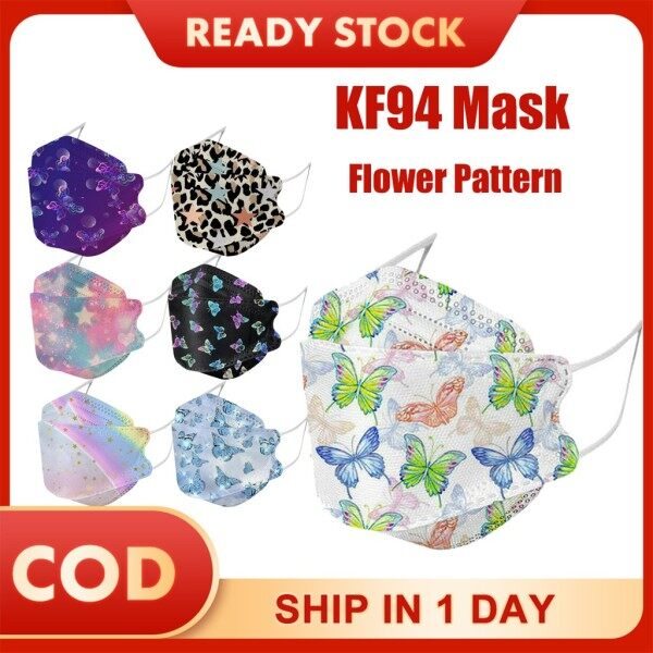 Trotinic 10pcs Masker K F94 Face Masker 3 Layer Non-woven Protection Filter 3D Masker Korea style Dust-proof Fog-proof And Breathable Protective Massk