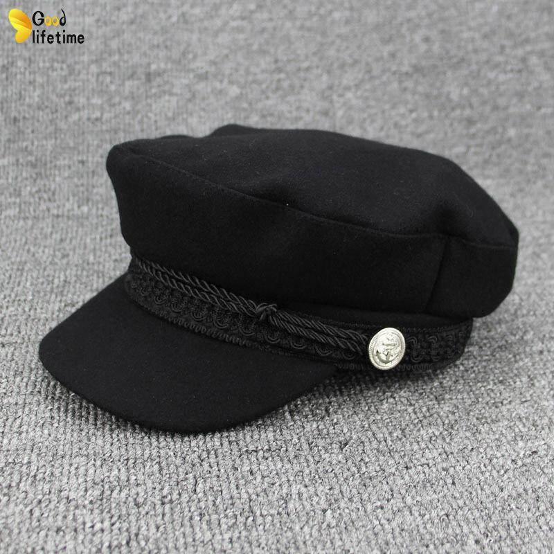 4083c100feb GLT Women Autumn Beret Soft Warm Vintage Chic Classic Female Hat for Winter