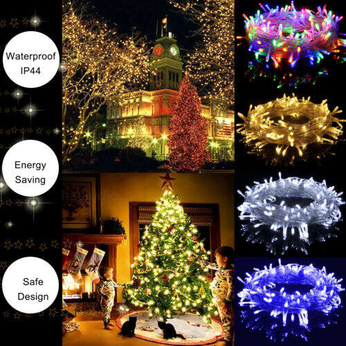 1m 10led 2m 20led Battery Operated String Lights Christmas Tree Decor Xmas Party Room Outdoor Fairy Decor Color Lamp Decor Y04