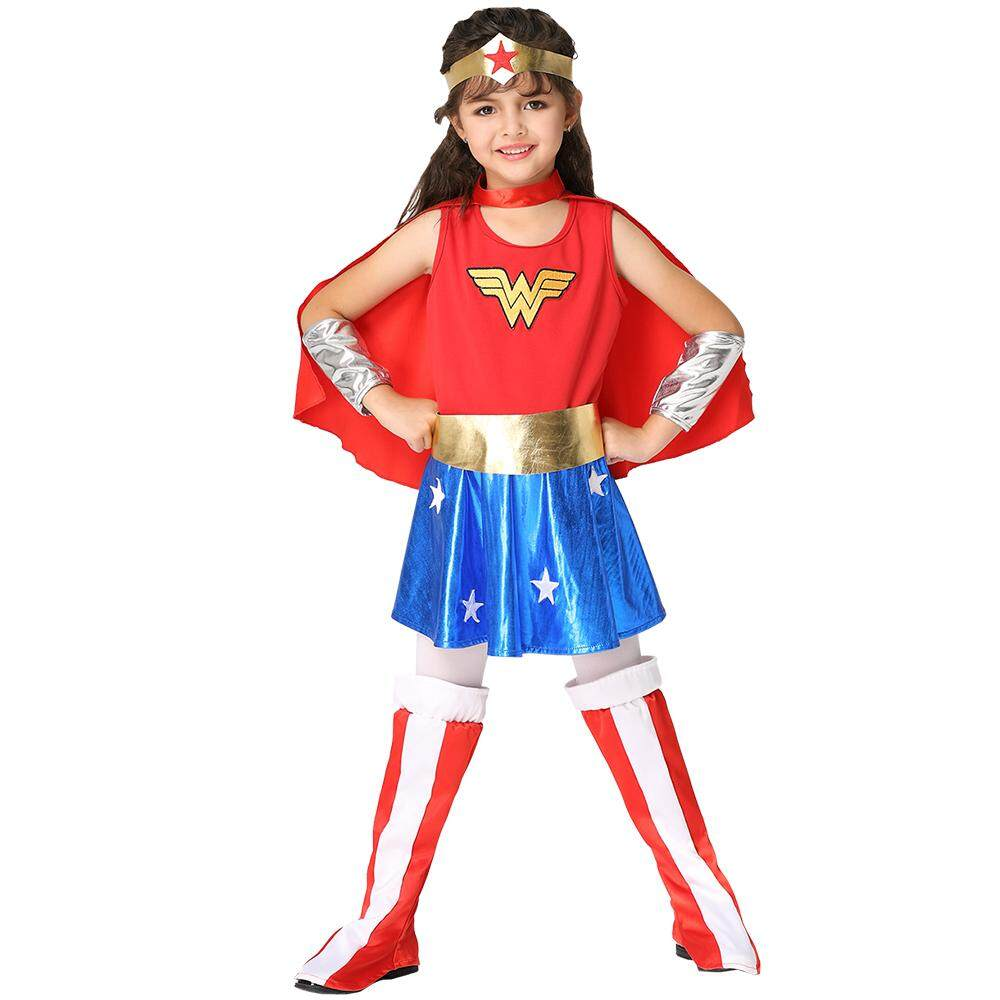 RIGO Costume Kids DC Wonder Woman Deluxe Wonder Woman Costume For Girls