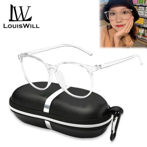 Giá bán LouisWill Computer Glasses Unisex Glasses Anti Blue Laser Optical Spectacles Eyeglasses Student PC Frame Myopia Glasses Optical Glasses Anti-blue Lens Eyes Protection Eyewear